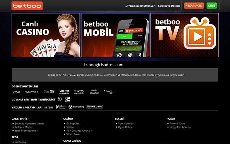 Betboo casino oyunları nelerdir?