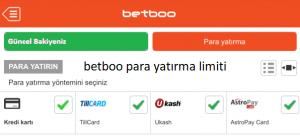 Betboo para yatırma limiti ne kadardır ? Sitede para yatırma alt limiti nedir?